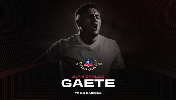 Fichajes Colo Colo: 'Cacique' anunció a Juan Carlos Gaete como nuevo refuerzo