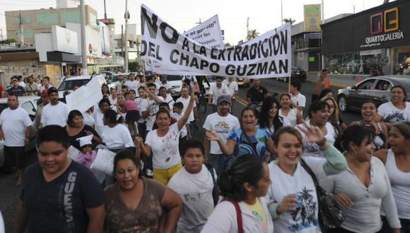 Simpatizantes de 'El Chapo' Guzmán vuelven a marchar en Sinaloa