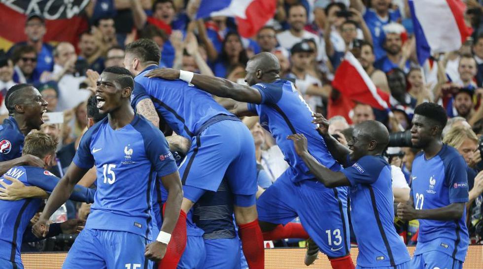 El eufórico festejo de Francia por el pase a final de Eurocopa - 1
