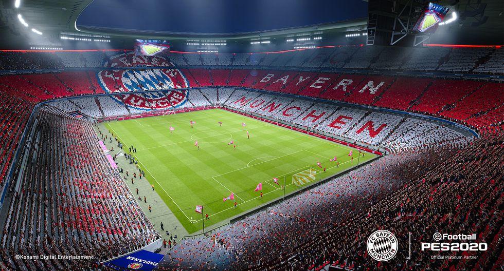 Allianz Arena en eFootball PES 2020. (Foto: Konami)