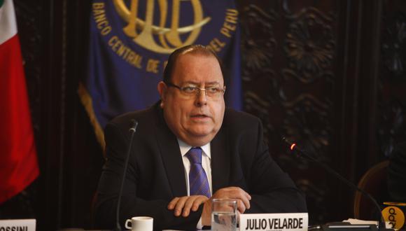 Julio Velarde, presidente del Banco Central de Reserva del Perú. (Foto: GEC)