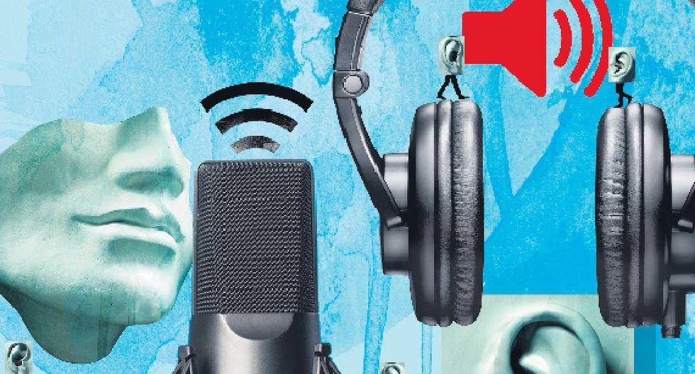 El podcasting es un fenómeno exitoso en países con alta penetración de internet.  (Ilustración: Giovanni Tazza)