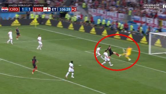 Inglaterra vs. Croacia EN VIVO: Pickford salvó su arco del 2-1 de los balcánicos [VIDEO] (Foto: captura de FOX)