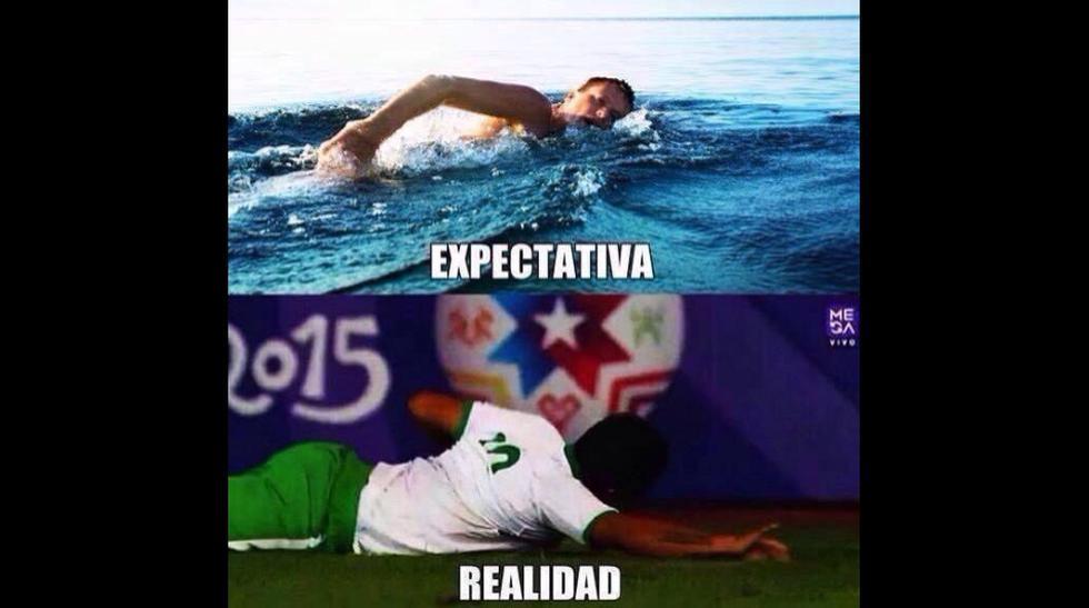 Los memes del jugador boliviano que celebró gol 'nadando' - 1