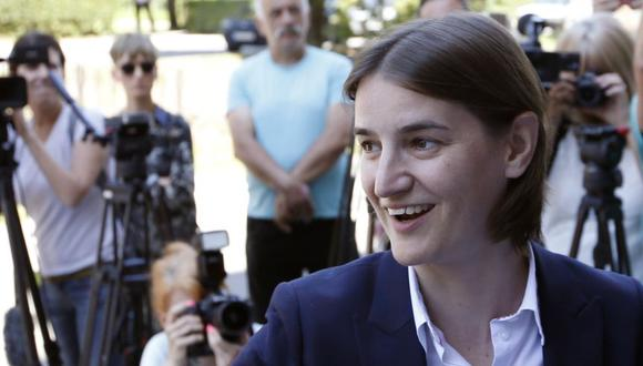 Ana Brnabic, la primera ministra de Serbia. (Foto: AP)