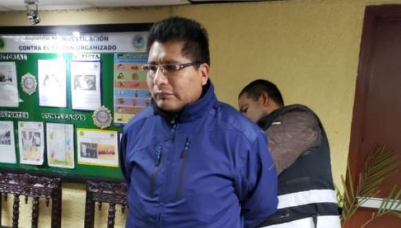 El domingo 25, Walter Aduviri fue detenido en Lima luego de estar prófugo por casi 20 días. (Foto: PNP)