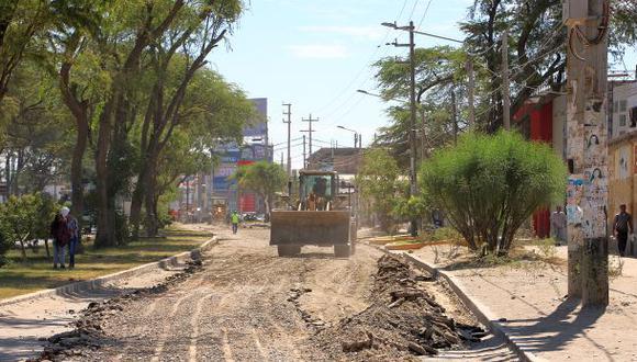 En la avenida Prolongación Grau, en Piura, ya se realizan obras de rehabilitación. La contraloría vigila estos procesos (Foto: Ralph Zapata)