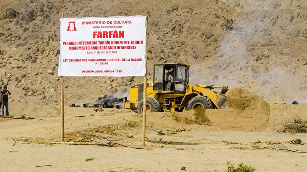 Restos de la Cultura Chimú en el complejo arqueológico Farfán fueron recuperados en La Libertad. (Dirección Desconcentrada de Cultura de La Libertad)