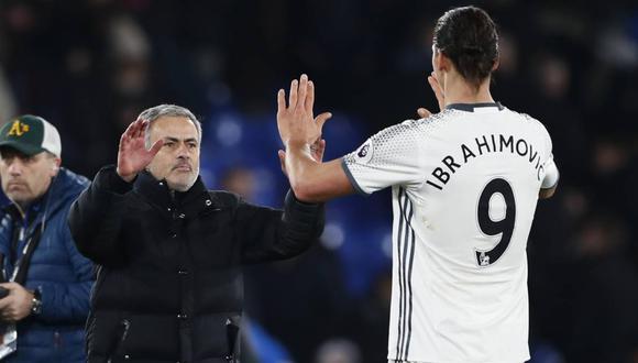 Mourinho y el lamento por la partida de Ibrahimovic a la MLS. (Foto: AFP)