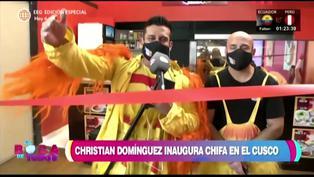 Christian Domínguez inauguró local de chifa en el Cusco