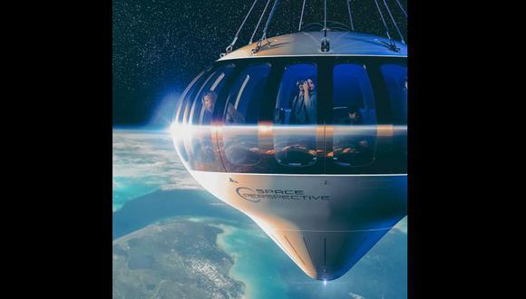 Así será dar un paseo por el espacio en seis horas y poder ver la Tierra en el 2024. Este es el 'globo' llamado Neptuno en el que se viajaría. FOTO: Exclusive Resorts.