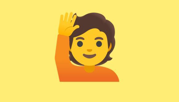 Conoce qué es lo que significa realmente el emoji de la persona levantando la mano en WhatsAppp. (Foto: Emojipedia)