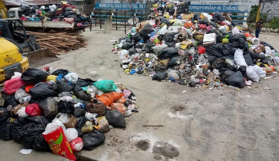 Loreto: hallan 24 toneladas de basura en pool de maquinarias de municipio de Punchana. (Foto: Daniel Carbajal)