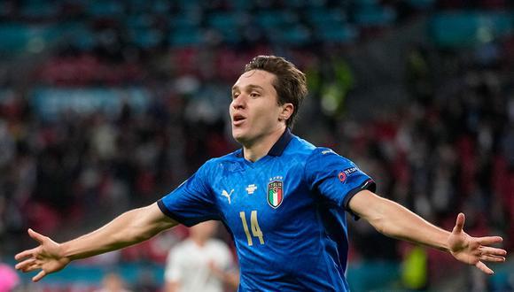 Federico Chiesa fue la fran figura de Italia en la conquista de la Eurocopa. (Foto: AFP)