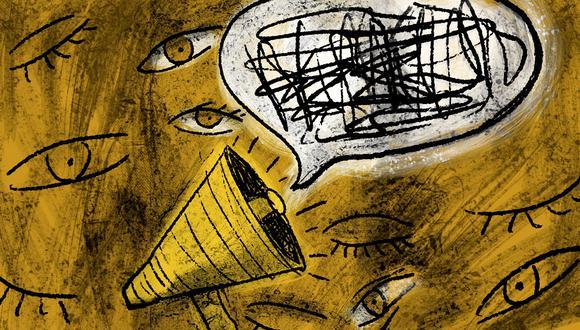 """""""En nuestro país hemos conocido también el amargo sabor de la censura y la administración de una prensa monocorde desde las alturas del poder"""".(Ilustración: Giovanni Tazza)"""