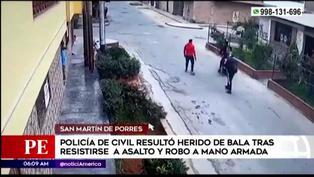 Policía resultó herido de bala tras enfrentarse a dos delincuentes en San Martín de Porres