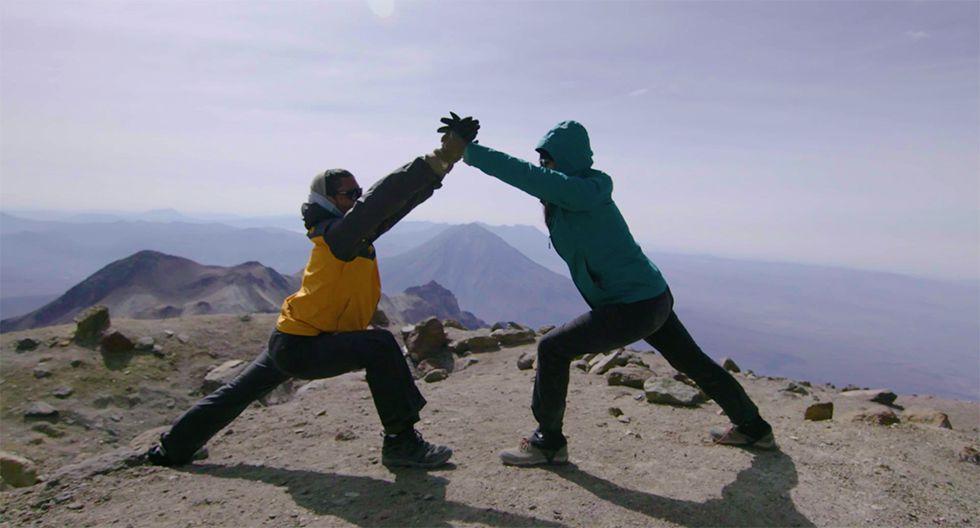 Se trata de la práctica de yoga más alta del mundo. (Foto: Difusión)