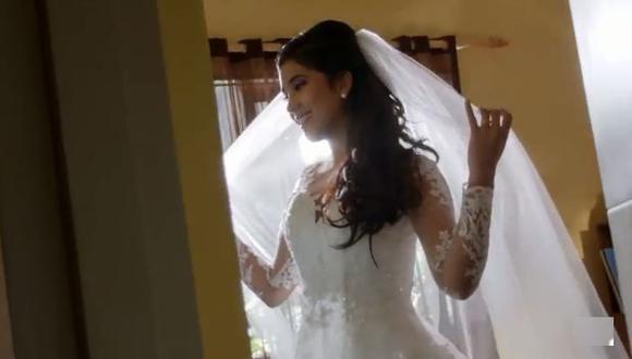 """Estrella y Juli van camino al altar en """"Ojitos Hechiceros"""". (Captura de pantalla)"""
