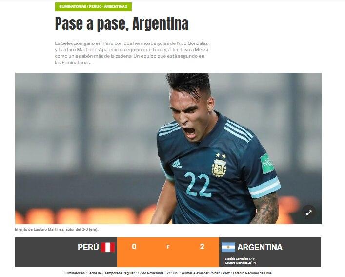 Diarios celebraron el triunfo en Lima.