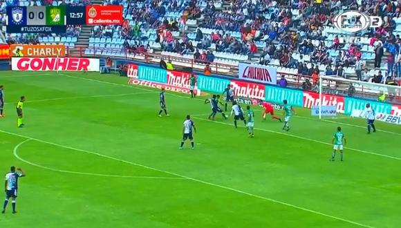 Club León se puso adelante en el marcador gracias a la anotación del argentino Víctor Ismael Sosa en el Estadio Hidalgo. (Foto: captura de video)