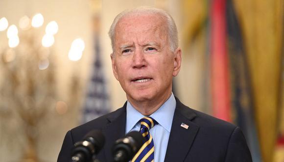 El presidente Joe Biden anuncia que el retiro de las tropas de Estados Unidos de Afganistán se completará el 31 de agosto, tras 20 años de guerra (Photo by SAUL LOEB / AFP).