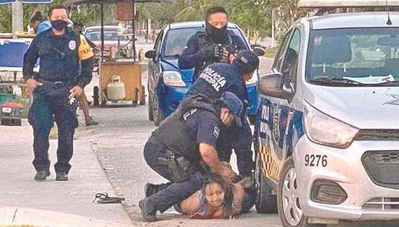 La salvadoreña Victoria Esperanza Salazar murió en manos de policías en Tulum, México. (Captura de video).