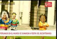 Fiesta del Bicentenario: así celebraron los peruanos en el mundo
