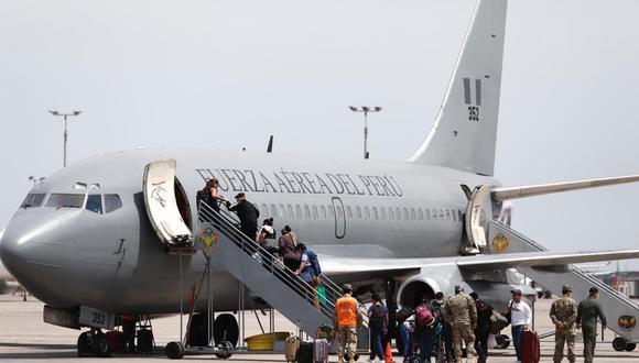 El Ministerio de Defensa pidió que esta acción no sea denominada como un 'puente aéreo', debido a que ya no se realizarán más vuelos y esta solo fue una excepción. (Foto: Angela Ponce/GEC)