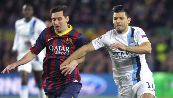Sergio Agüero es la apuesta de Barcelona para retener a Messi (Foto: AFP)