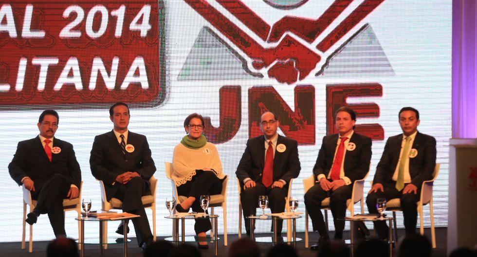 Los 13 candidatos a la Alcaldía de Lima en el debate del JNE - 1