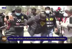 Comas: Policía captura a falso colectivero que dopaba a pasajeros para robarles