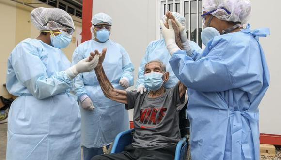 Piura: hombre de 101 años que perteneció a la campaña militar de 1941 venció al COVID-19 (Foto: hospital de Chulucanas)