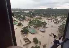 Sobrevuelan Madre de Dios para evaluar daños por las inundaciones | VIDEO