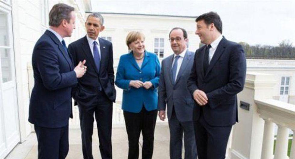 La foto que representa el extremo cambio de la política mundial