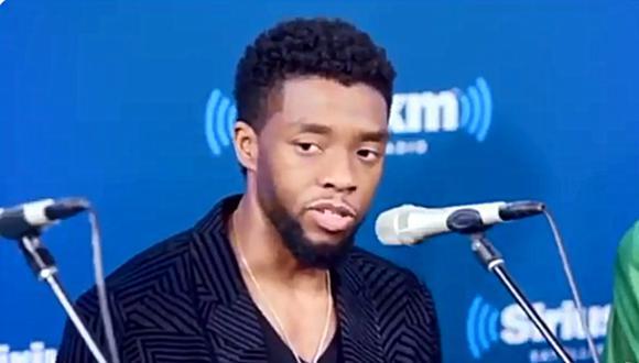 """El actor Chadwick Boseman, reconocido en los últimos años por haber interpretado al superhéroe de Marvel """"Black Panther"""", falleció a los 43 años tras una lucha de cuatro años contra el cáncer de colon. (Foto: @DavidDTSS / Twitter)"""
