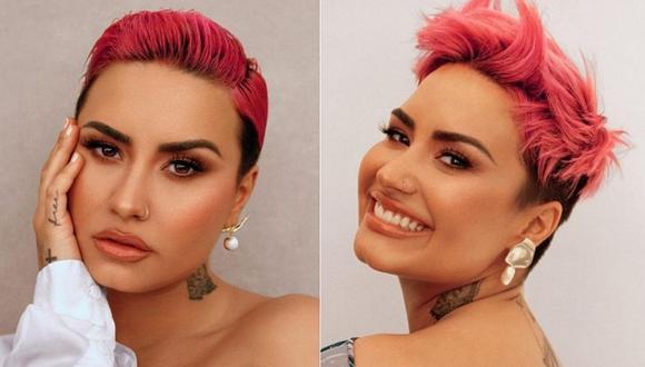 Demi Lovato ofreció una reveladora entrevista por Zoom luciendo su cabello rosa brillante y en la que se define como 'queer'. (Foto: @glamourmag / Instagram)