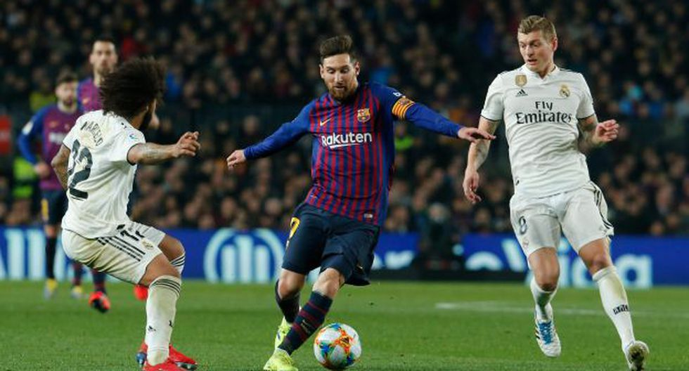Real Madrid y Barcelona buscarán el pase a la final de la Copa del Rey. (Foto: AFP)