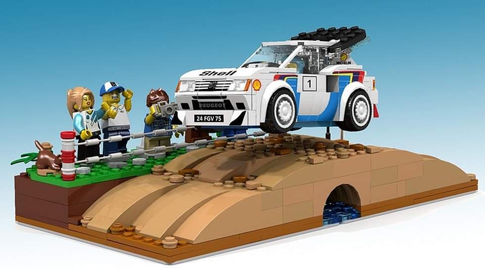 Otra leyenda en Lego: el Peugeot 205 Turbo 16 del Rally Mundial - 2