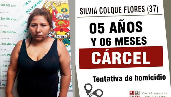 Mujer pasará cinco años en el penal de Chimbote. (Foto: Difusión Corte del Santa)