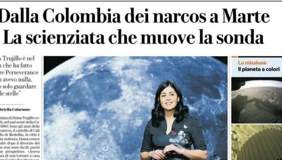"""La Cancillería de Colombia publicó un tuit en el que rechaza el titular:  """"Colombia se siente orgullosa de profesionales como Diana Trujillo, ejemplo de perseverancia, logro científico e inspiración para las nuevas generaciones"""". (Foto: Twitter)."""