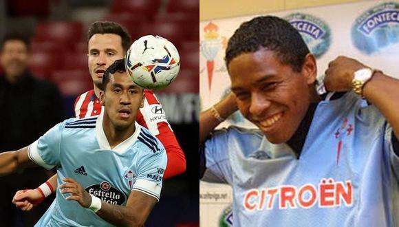 Tapia y Jayo, con 20 años de diferencia, se pusieron la camiseta de Celta de Vigo. (Foto: Agencias)