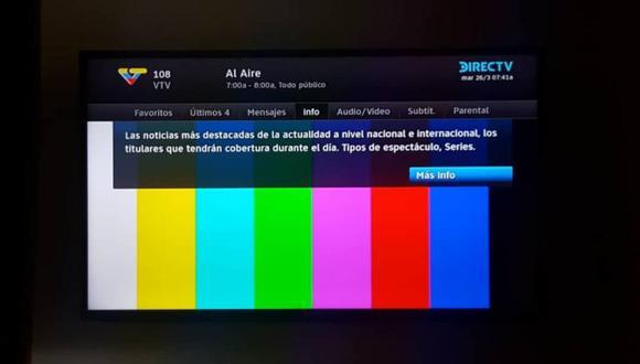 El apagón hizo que el canal VTV tenga problemas en su planta. (Foto: Twitter - @Gbastidas)