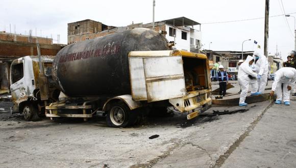 Fuga de gas en camión provocó gran explosión en Villa El Salvador. (Foto: Allen Quintana)