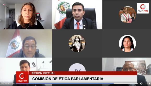 Comisión de Ética Parlamentaria sesionará este sábado 22 de agosto. (Foto: Captura Congreso TV)
