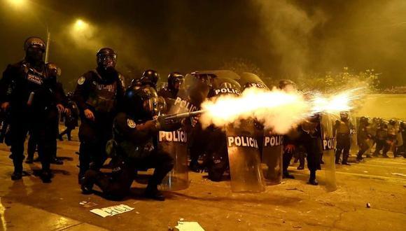 Policía Nacional utilizó gases lacrimógenos y perdigones contra manifestantes durante las protestas de la semana pasada  (Alessandro Currarino / @photo.gec)