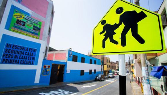 Para este 2020 se ha programado mejorar la señalización de tránsito en los alrededores de 80 colegios. (Foto: Difusión)