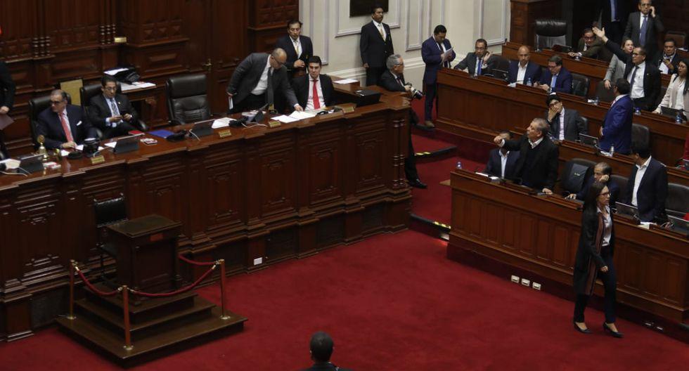 Minutos previos el presidente Martín Vizcarra anunció la disolución del Congreso. (Foto: GEC)