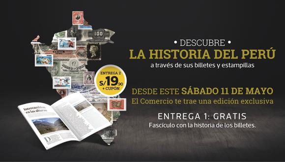 Una colección de 30 entregas donde conocerás la historia del Perú a través de sus billetes y estampillas, entrega 1 gratis.