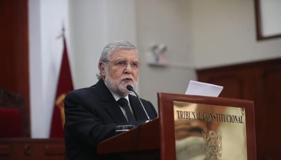 Ernesto Blume destacó la elección de Marianella Ledesma y Augusto Ferrero como presidenta y vicepresidente del TC, respectivamente. (Foto: Giancarlo Ávila / GEC)