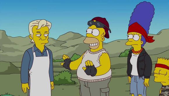 """Triunfo del absurdo: Julian Assange, Homero, Marge y Bart en el capítulo 500 de """"Los Simpson"""""""